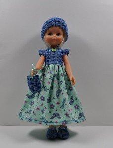 robe bleue papillon