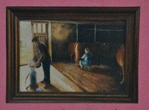 l'étable à vaches  R